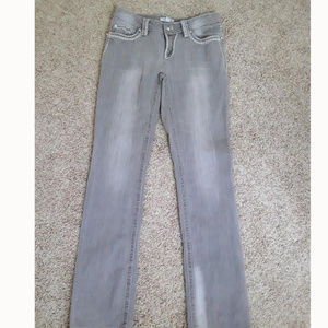 Boston Proper Gray Embellished Jeans